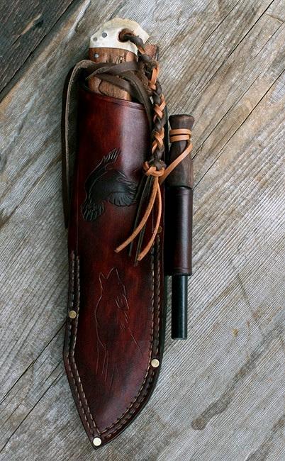 Handmade bushcraft knife.