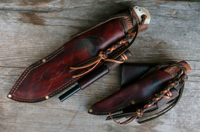 Woodland and Wiseman knives sheathed.jpg
