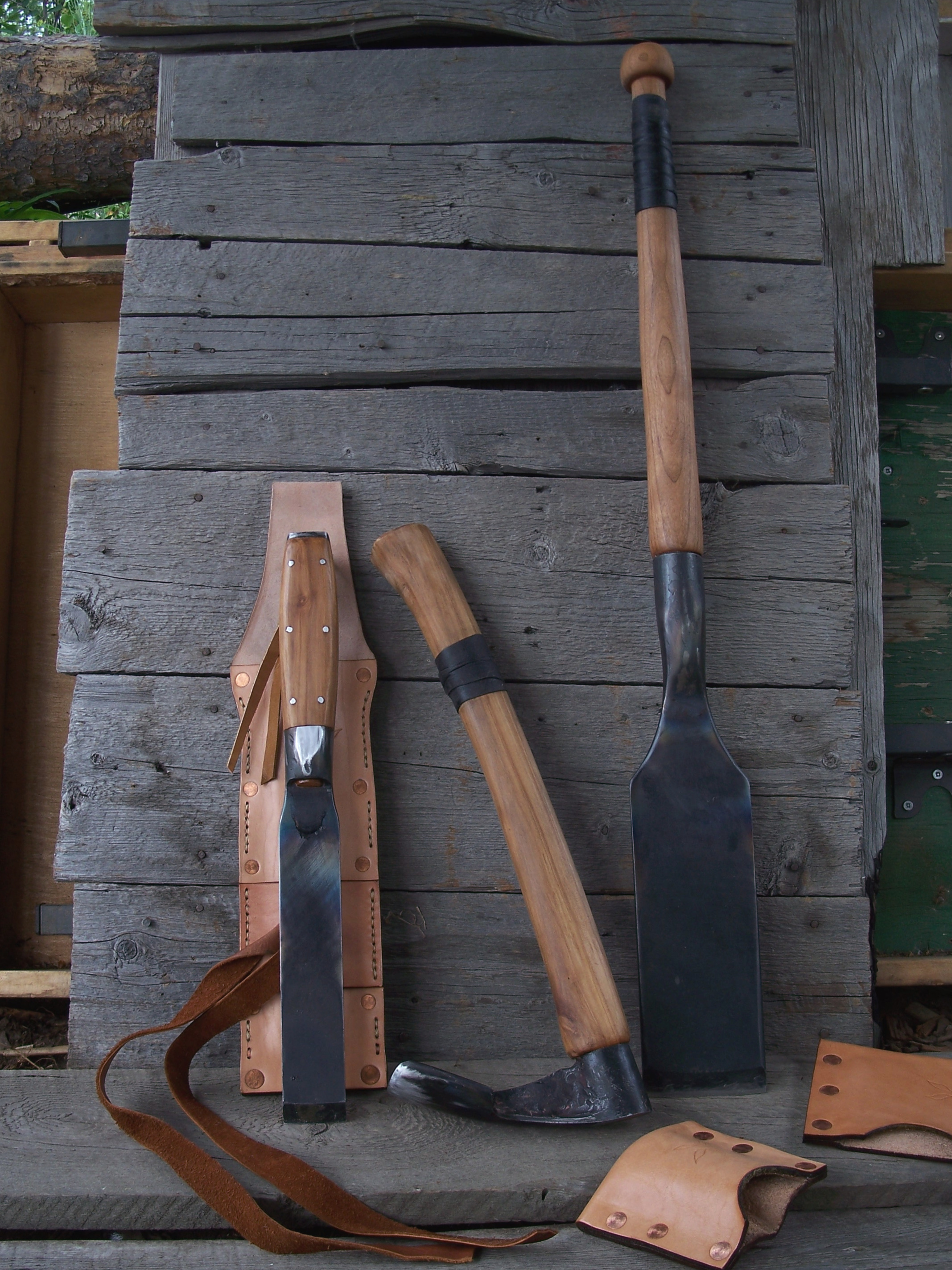 Log home builder's hand tools