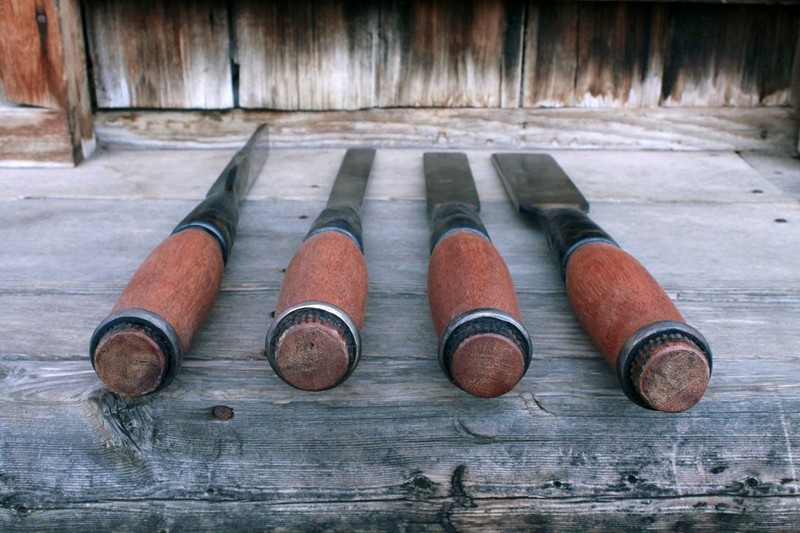 Timber framing chisels