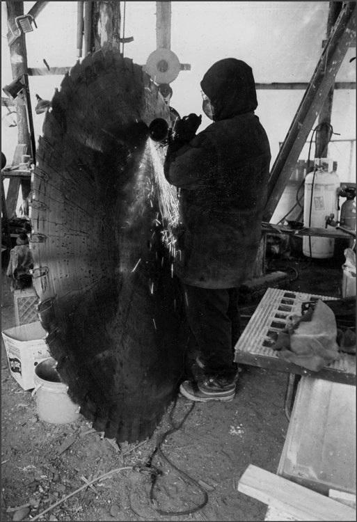Head saw blades 2 metre diameter. Caribou survival knife steel stock.