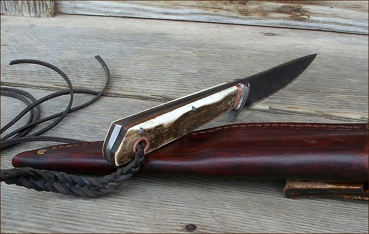 Custm Knife with a Long Handle
