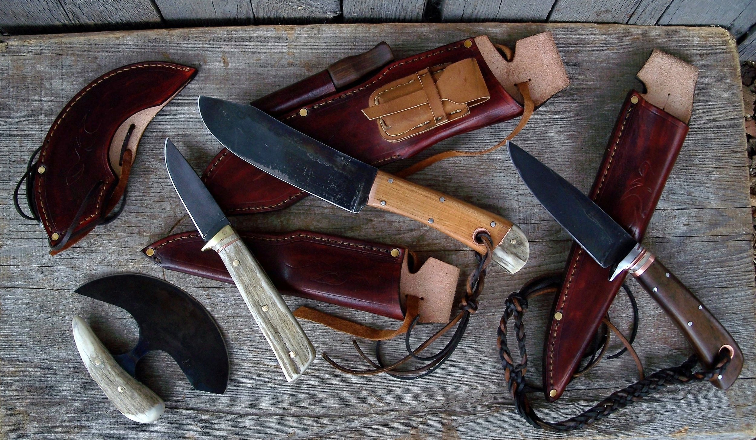 Custom Hunting Knife Set