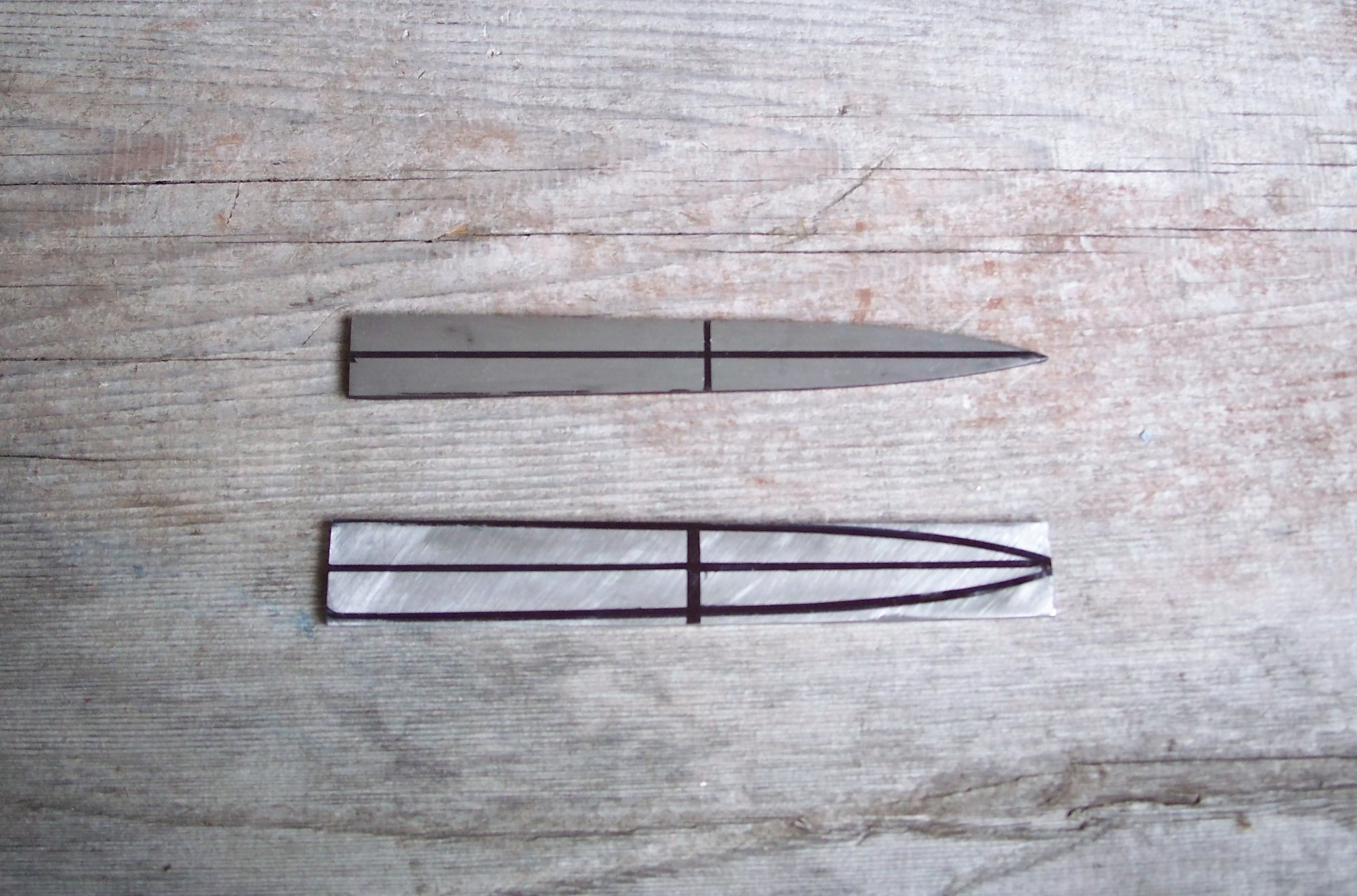 Hook knife blanks