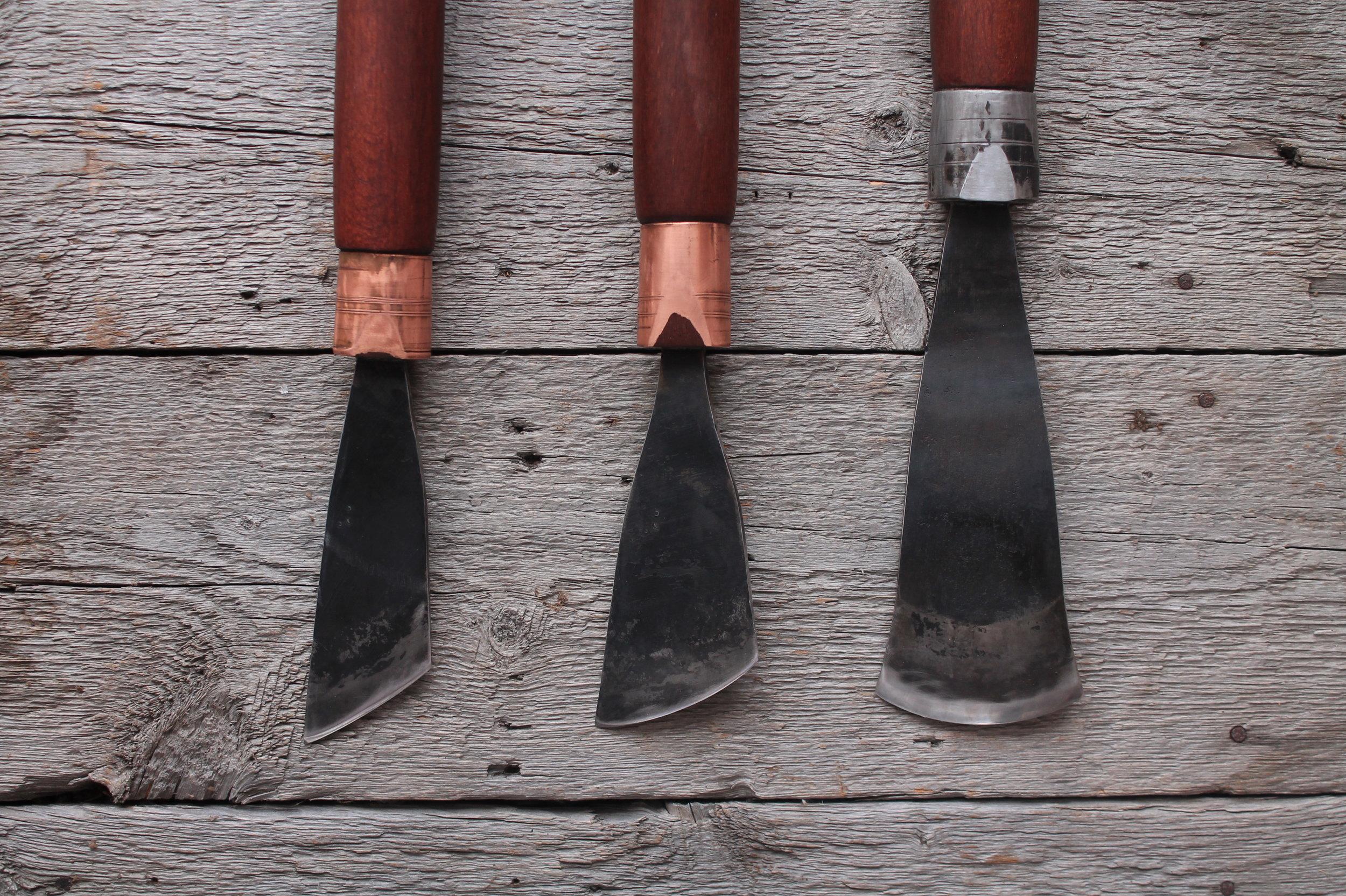 Different blade shapes, custom skews and slicks.