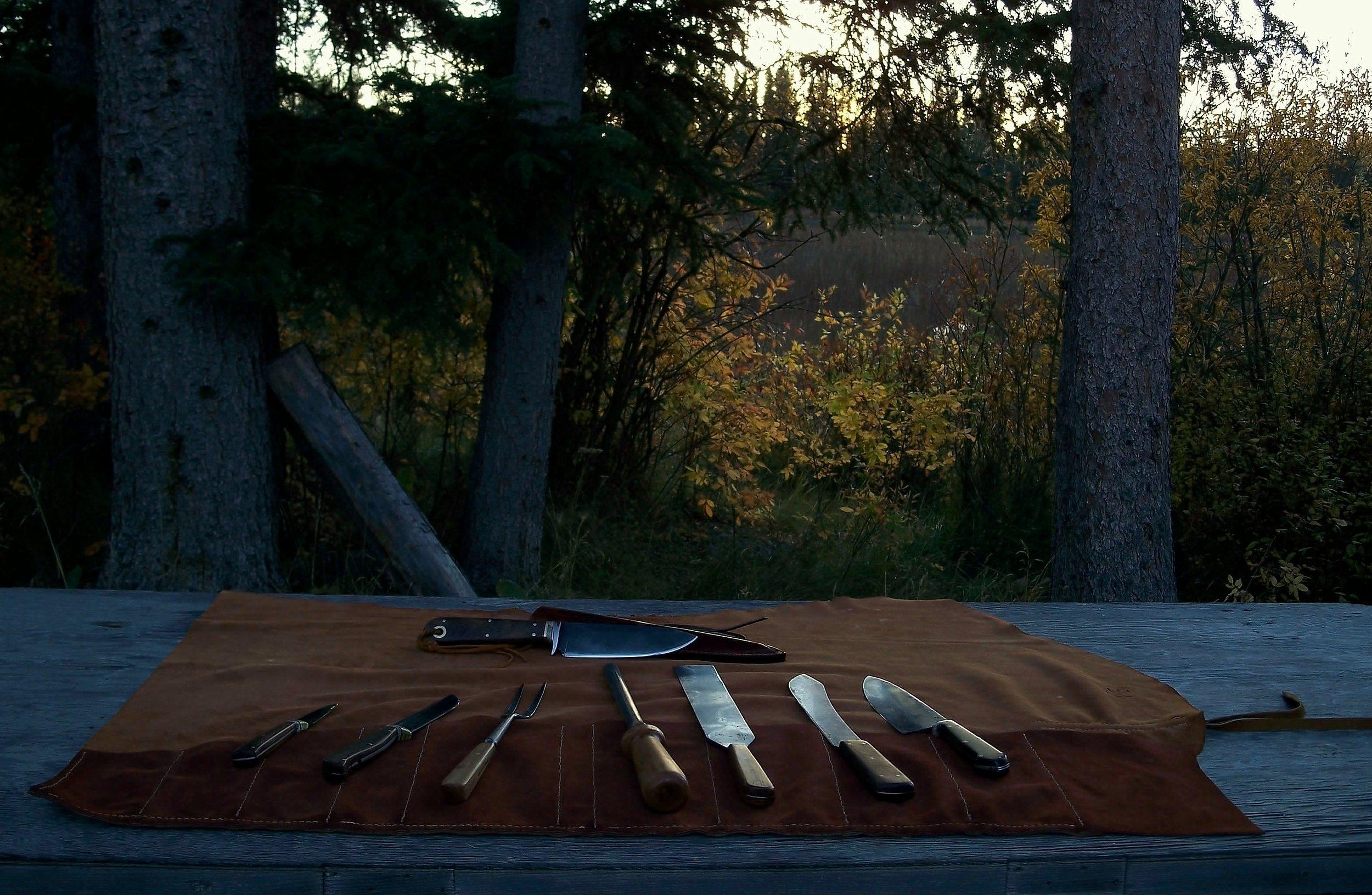 Camp Food Preparation Knife set.