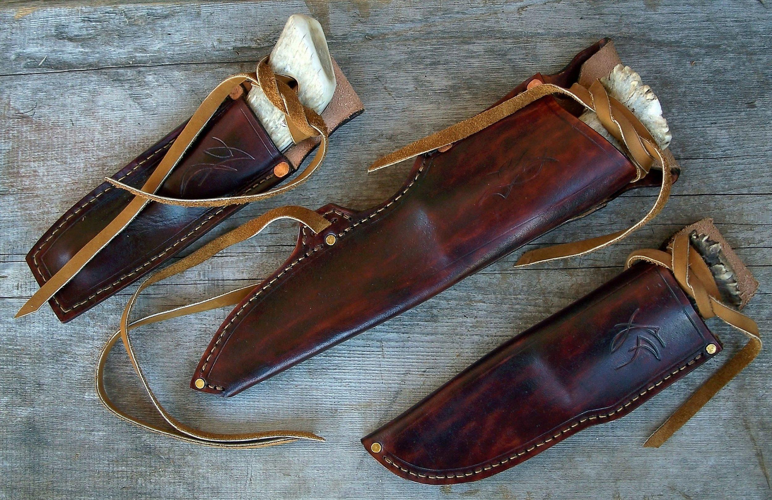 Horseback Knives Sheathed