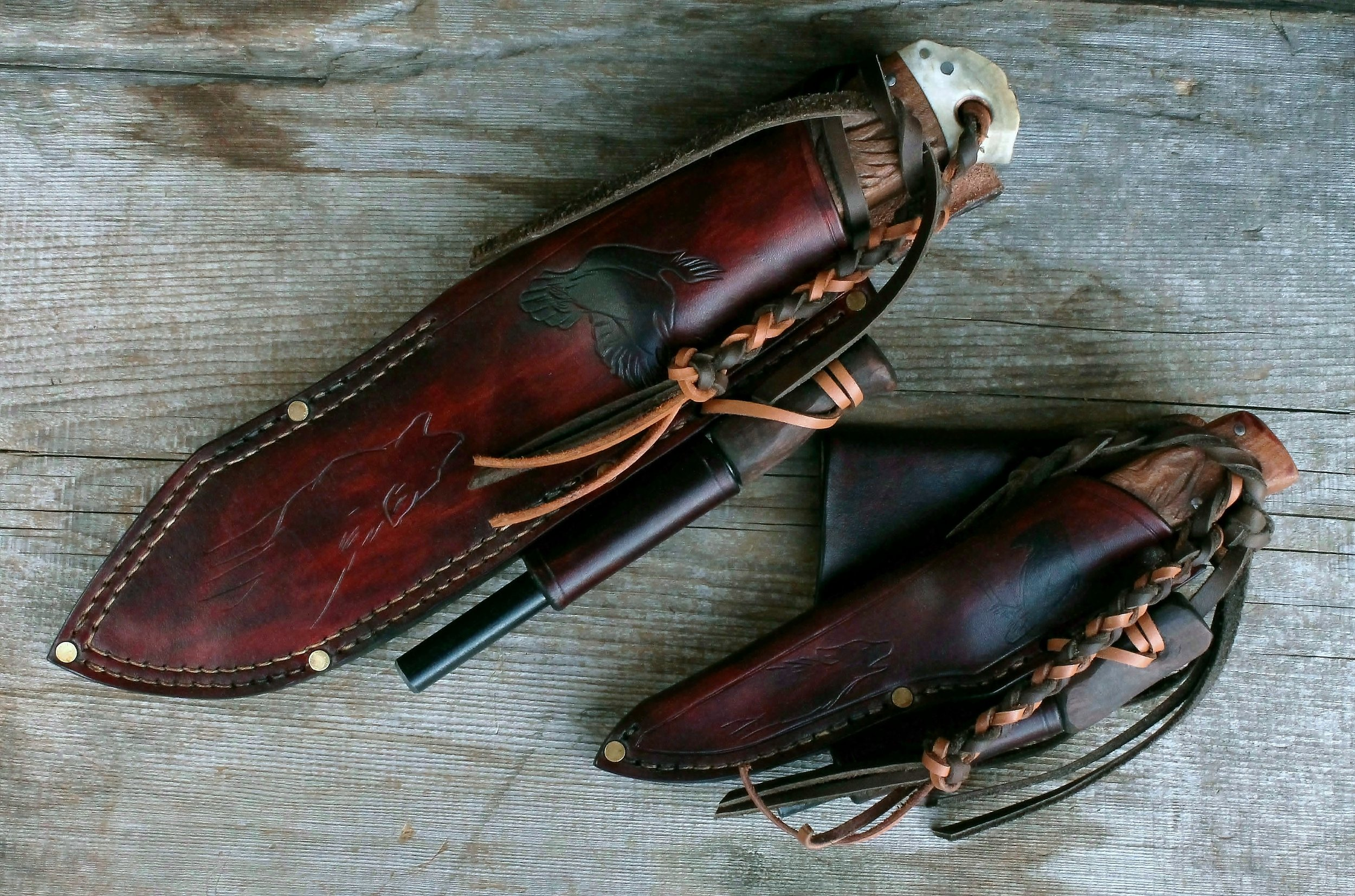Wolf and Raven Knife Set