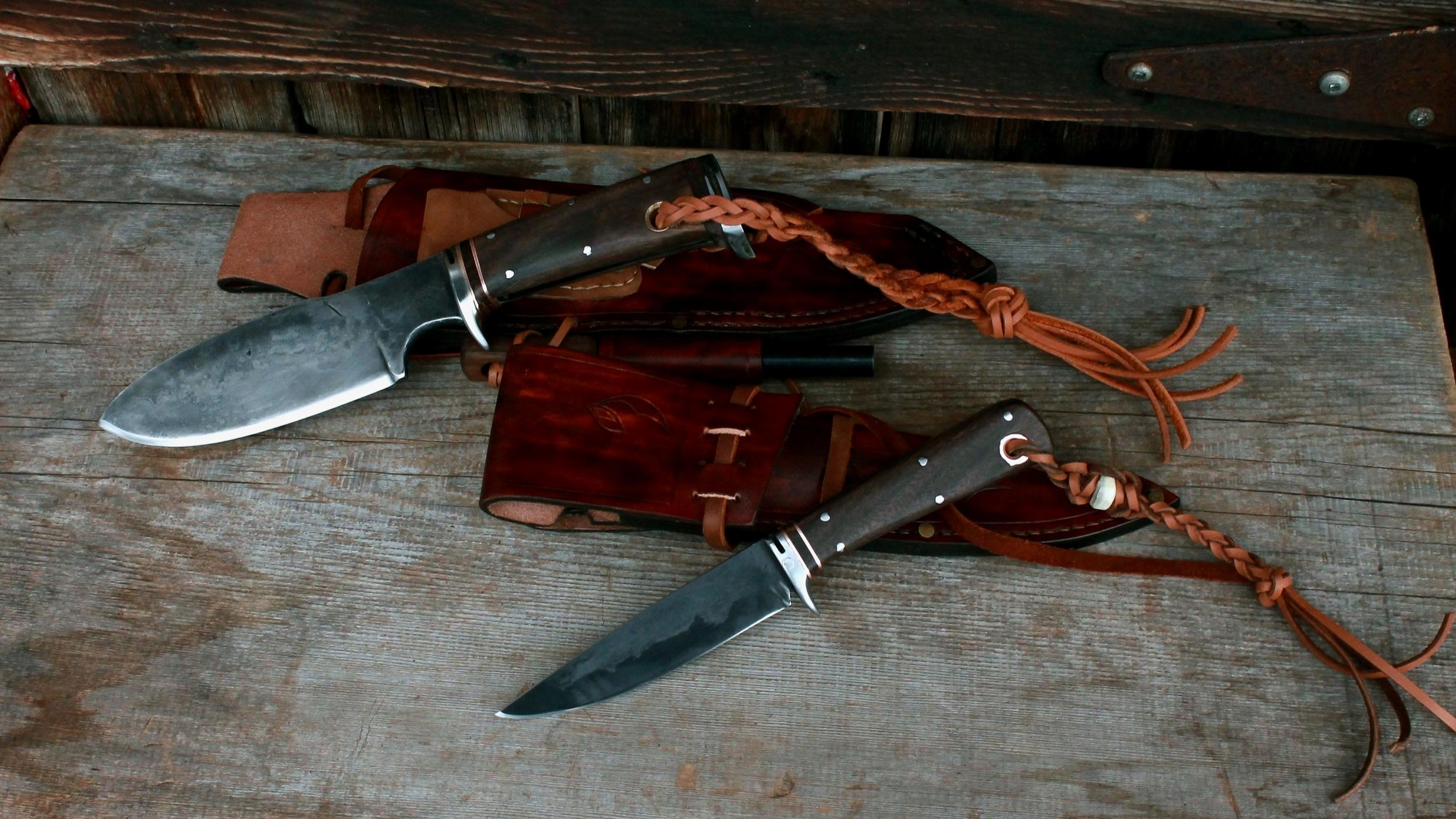 Hunting Knives Set, Walnut