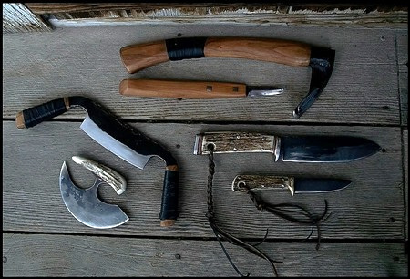 Hunting and Woodcarving Tools and Knives Set