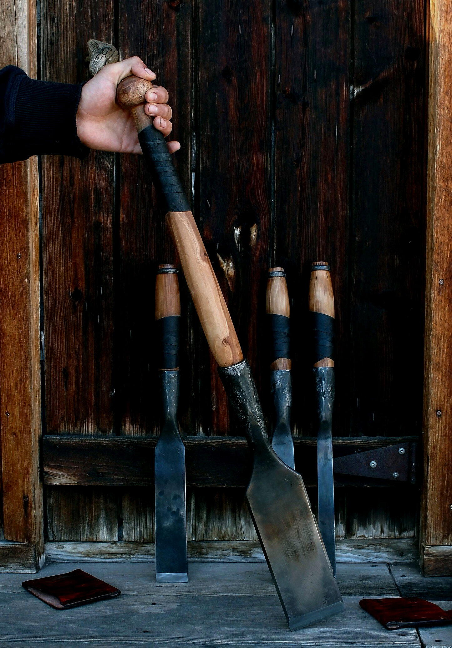 """1 1//4/"""" Timber Frame Wood Chisel with Hand Turned Slick Handle ***  NEW  ***"""