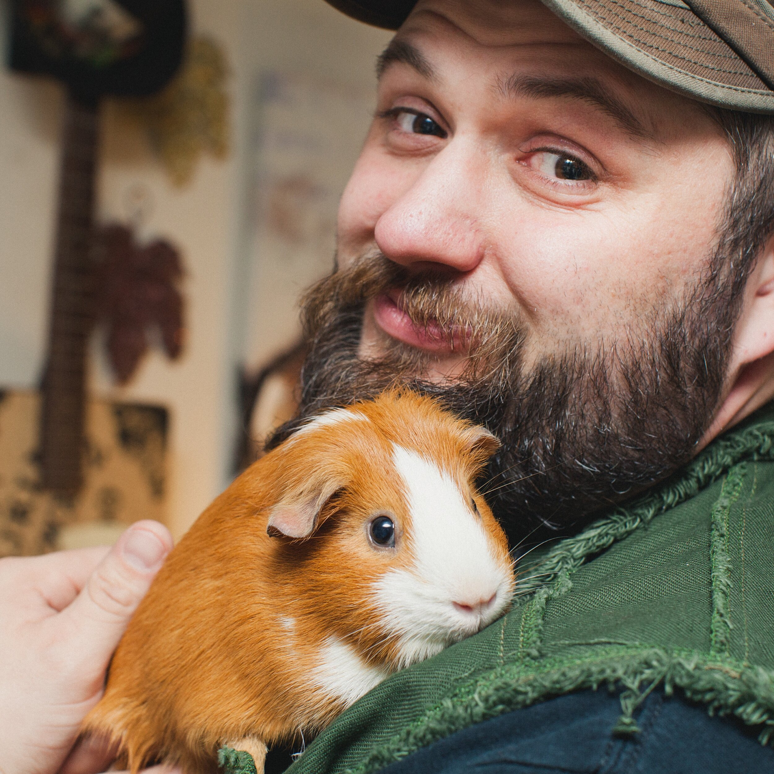Jimmy with a Guinea Pig