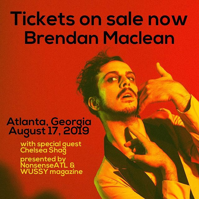 Early-bird tickets to @macleanbrendan in Atlanta just went on sale. Get 'em while you can!