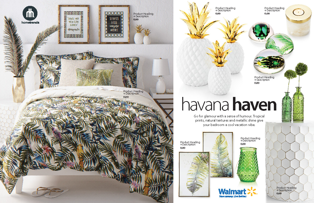Editorial - Features in House & Home and Canadian Living magazine showing style on a budget, how to get the look for less or freshen up your space with the latest accent furniture and accessories.