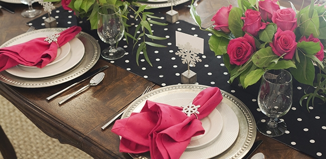 Table Setting Rental, Celebrate with Pink