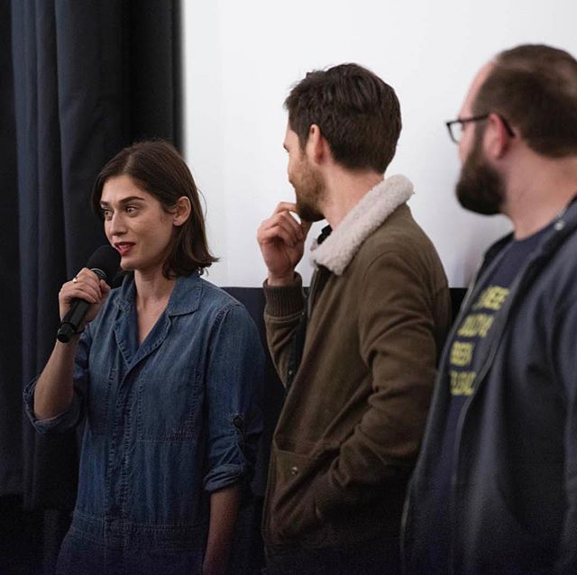 Lizzy Caplan tackles a hardball question like a boss after the screening of The Toll Road at @iffboston. Thanks to the Independent Film Festival Boston for an incredible weekend. #TheTollRoad