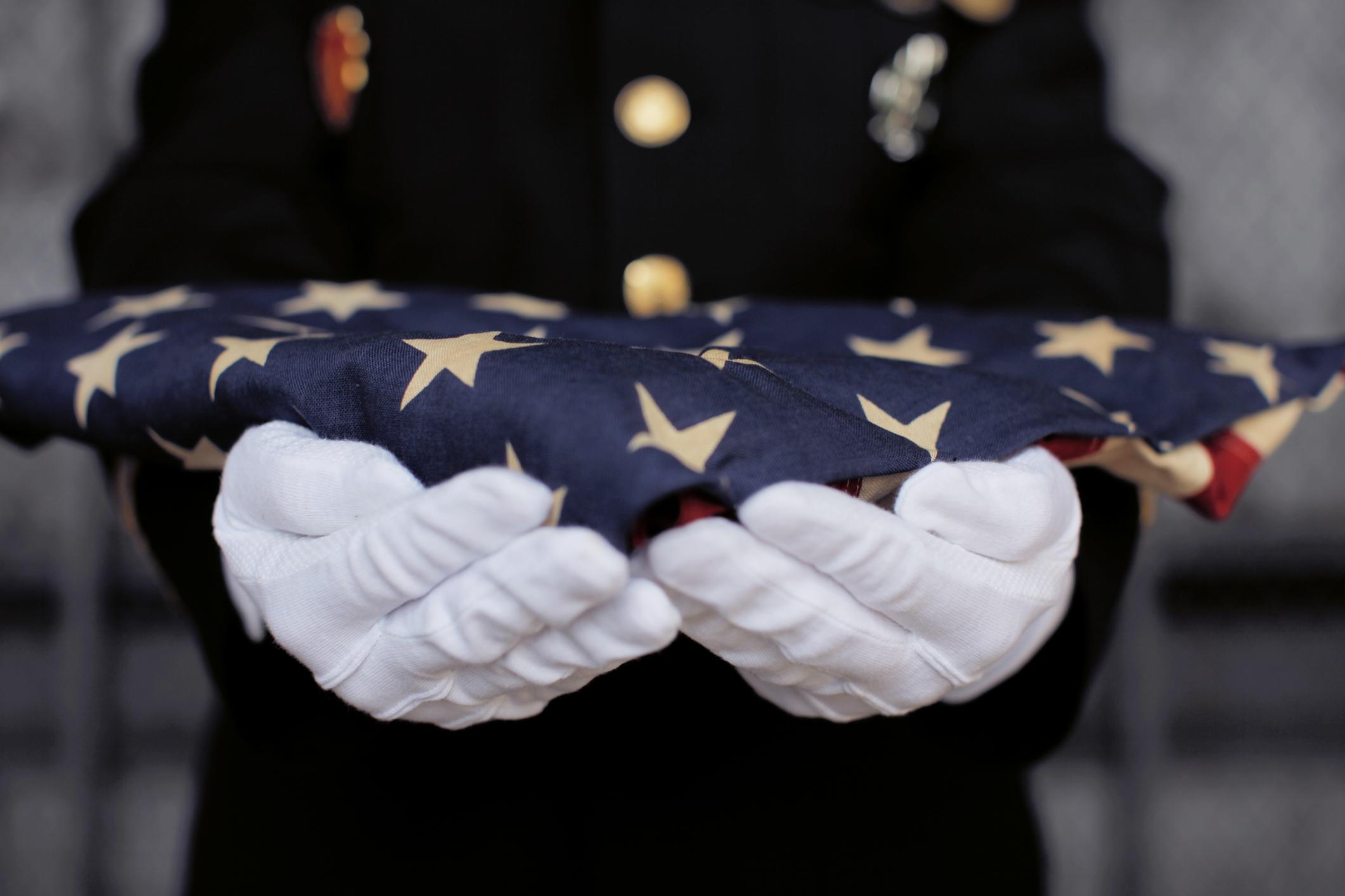 Veterans Funeral Flag Ceremony