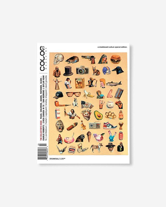 Volume 9, Number 3 — the Collectors Issue c.2011  Feature photo essay by @mikeomeally , @ftc_skateboarding exposé, and the Found Art of Bobby Puleo, Jason Adams, Steve Olson, Brian Lotti and more.  196pp glossy, matte, and uncoated FSC Certified recycled text pages with 1 of 6 artist trading cards, 1 of 16 @Stussy X @Marvel trading cards packed up with 1 of 4 covers by artist Charlie Roberts printed in Canada using vegetable based inks. 🔗Link in bio👈 . . . . #color9point3 #colormagazine #skateordiy #restinprint #colormag #colorrip #skateboarding #art #skateculture #skateboardingculture #skateboardculture #skateart #canada #vancouver #sandrogrison #stussyxmarvel #charlieroberts #nataskaupas #manwolfs #mikeomeallyphoto #dylanreider #FTC  #crookedwalker #bobbypuleo #skylarkehr #danredmond