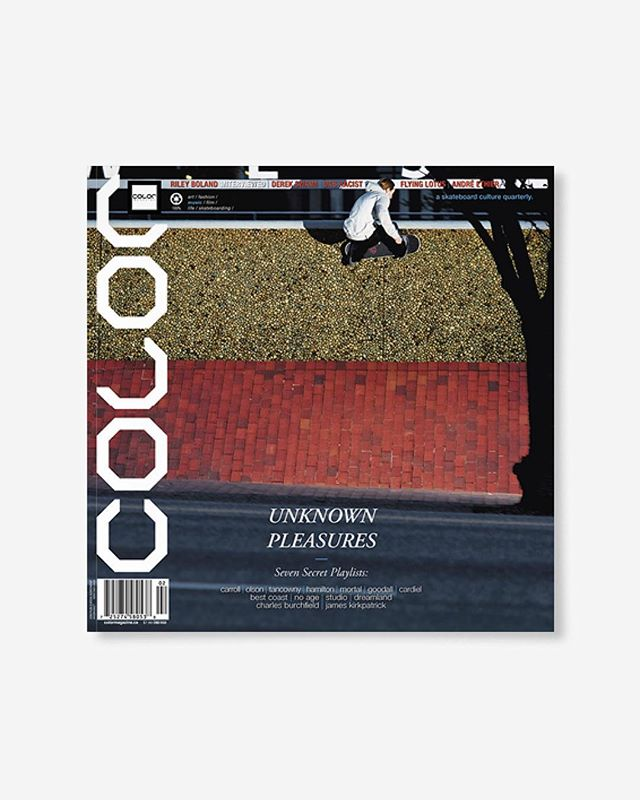 """Volume 8, Number 2 (summer 2010) Guest Typographer Cody Hudson, Flying Lotus, Das Racist, artist Andres Ethier, plus Riley Boland feature interview, Derek Swaim, and more! 144pp glossy, matte, and uncoated FSC Certified 70lb recycled text pages 9.75 x 9.75"""" with 4pp 110lb cover high-gloss laminate with collectable postcard printed in Canada using vegetable based inks. 🔗Link in bio👈 . . . . #color8point2 #colormagazine #skateordiy #restinprint #colormag #colorrip #skateboarding #art #fashion #style #film #music #skateculture #skateboardingculture #skateboardculture #skateart #canada #vancouver #sandrogrison #flyinglotus #rileyboland #georgiabanks #codyhudson"""