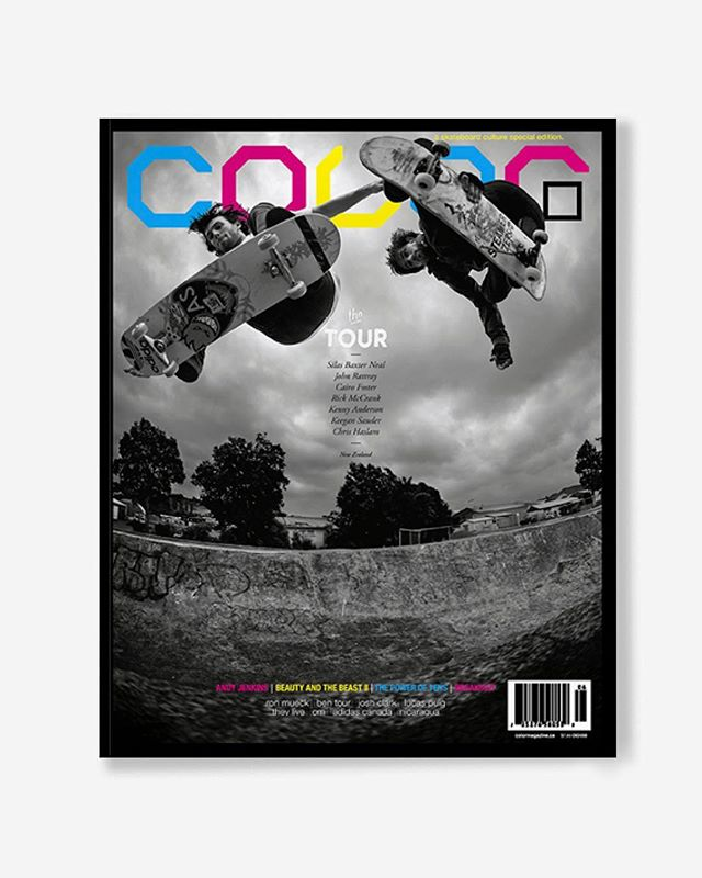 "Volume 7, Number 6 ""the Tour Issue"" c.2009 The Heaven and Hell of cycling and skateboarding across New Zealand with Silas Baxter-Neal, John Rattray, Rick McCrank, Kenny Anderson, Cairo Foster, Keegan Sauder, and Chris Haslam.  160pp glossy, matte, and uncoated FSC Certified 70lb recycled text pages 9.75 x 11.25"" with 2x 4pp 110lb laminated cover printed in Canada using vegetable based inks. 🔗Link in bio👈 . . . . #color7point6 #thetourissue #colormagazine #skateordiy #restinprint #colormag #colorrip #skateboarding #art #fashion #style #film #music #skateculture #skateboardingculture #skateboardculture #skateart #canada #vancouver #sandrogrison #bentour #jeffcanham #andyjenkins #silasbaxterneal #johnrattray #newzealand #ridingthelongwhitecloud"