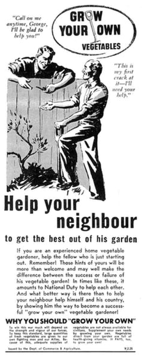 Vegetable gardening needs skill and knowledge. PROV, VPRS 10163/P2
