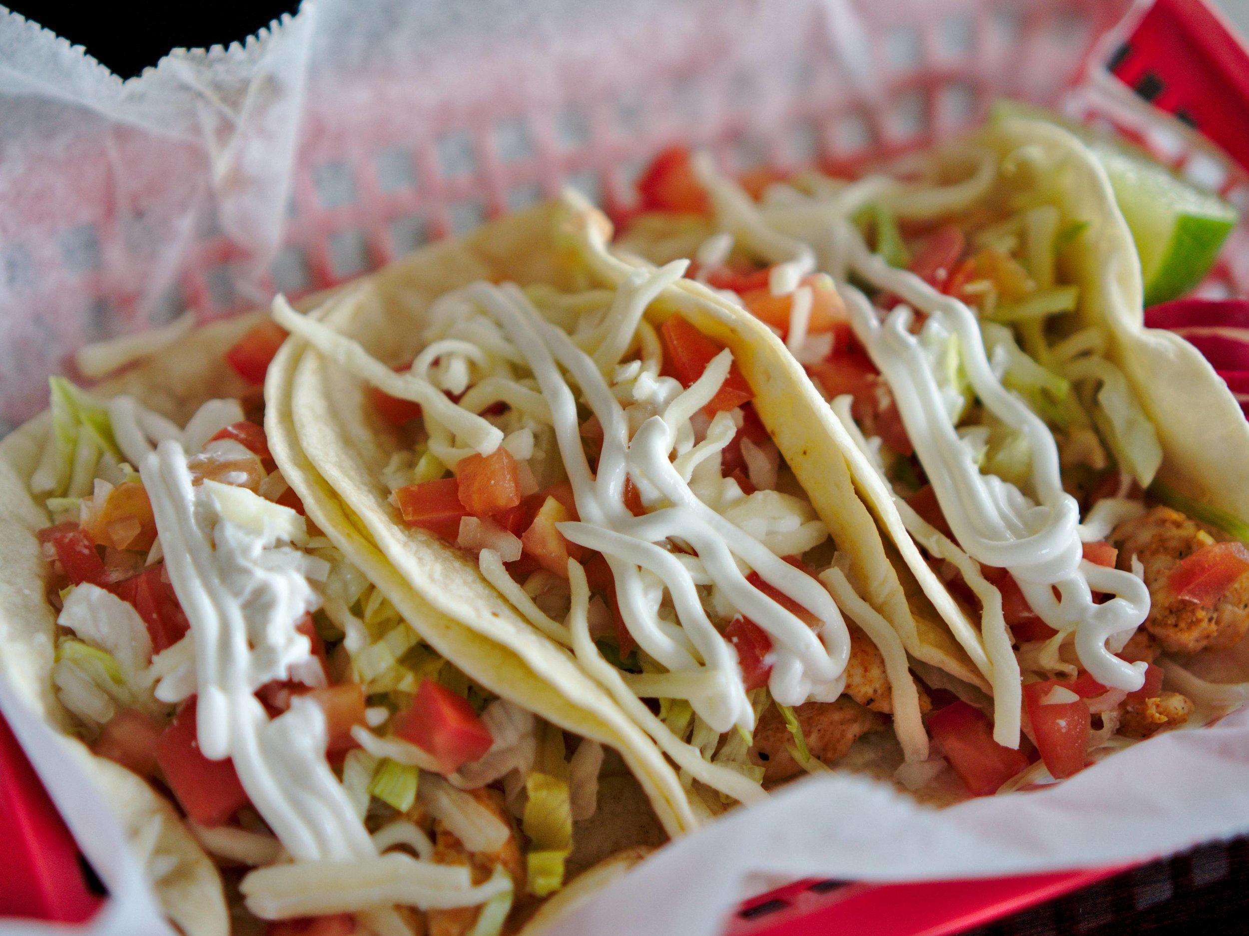 Chicken Flour Tacos