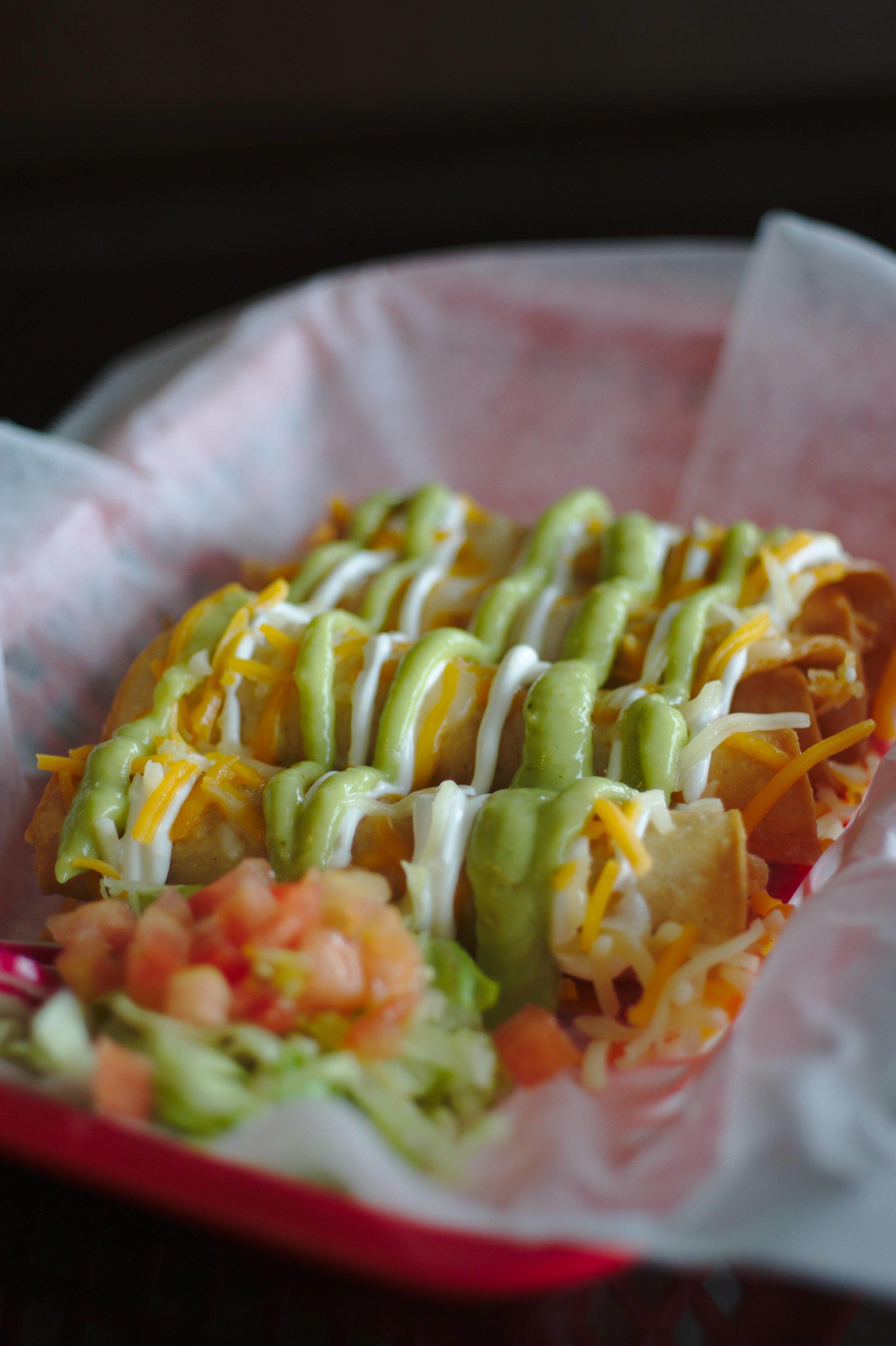 Roller Chicken Taquitos