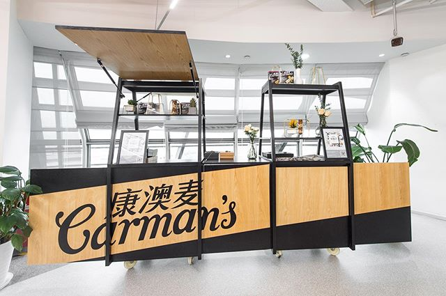 We built The Really Good Pop Up Cart for Carman's Kitchen as a platform for customers to interact with, and learn more about their range of muesli and snacks. It's robust, modular and transportable - easily able to pop up at an office campus or weekend market. 🥣☀️🍎🥥