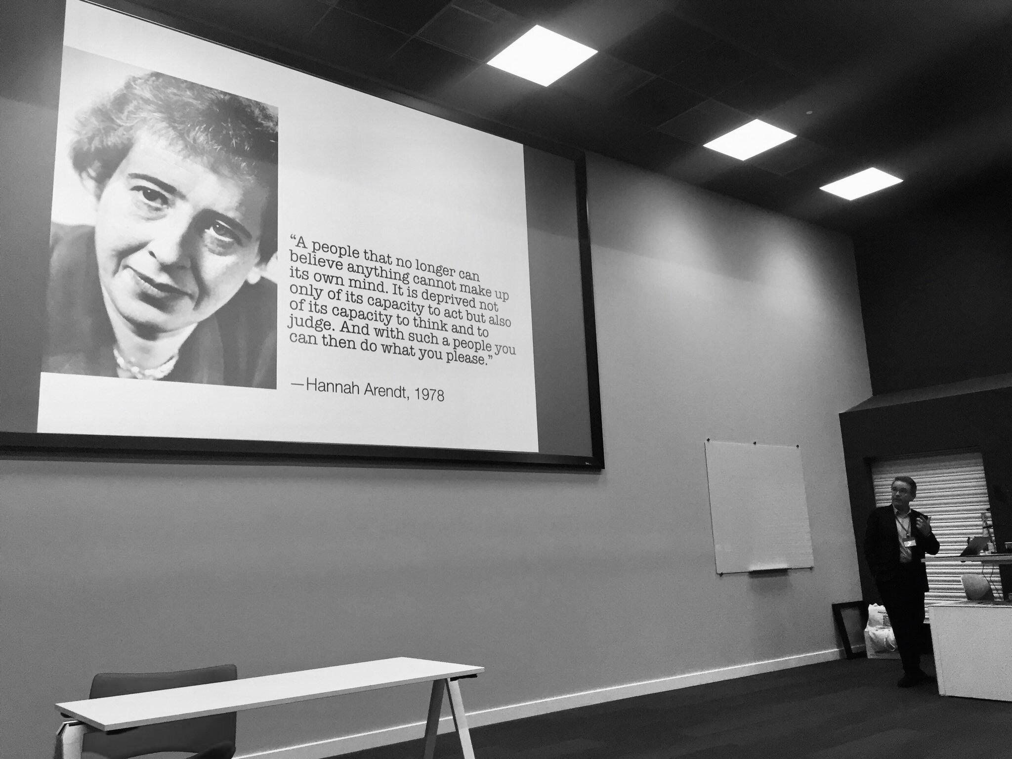 Keynote at the Future Of Journalism Conference, Cardiff, 2019. (Photo: Andy Williams @llantwit)