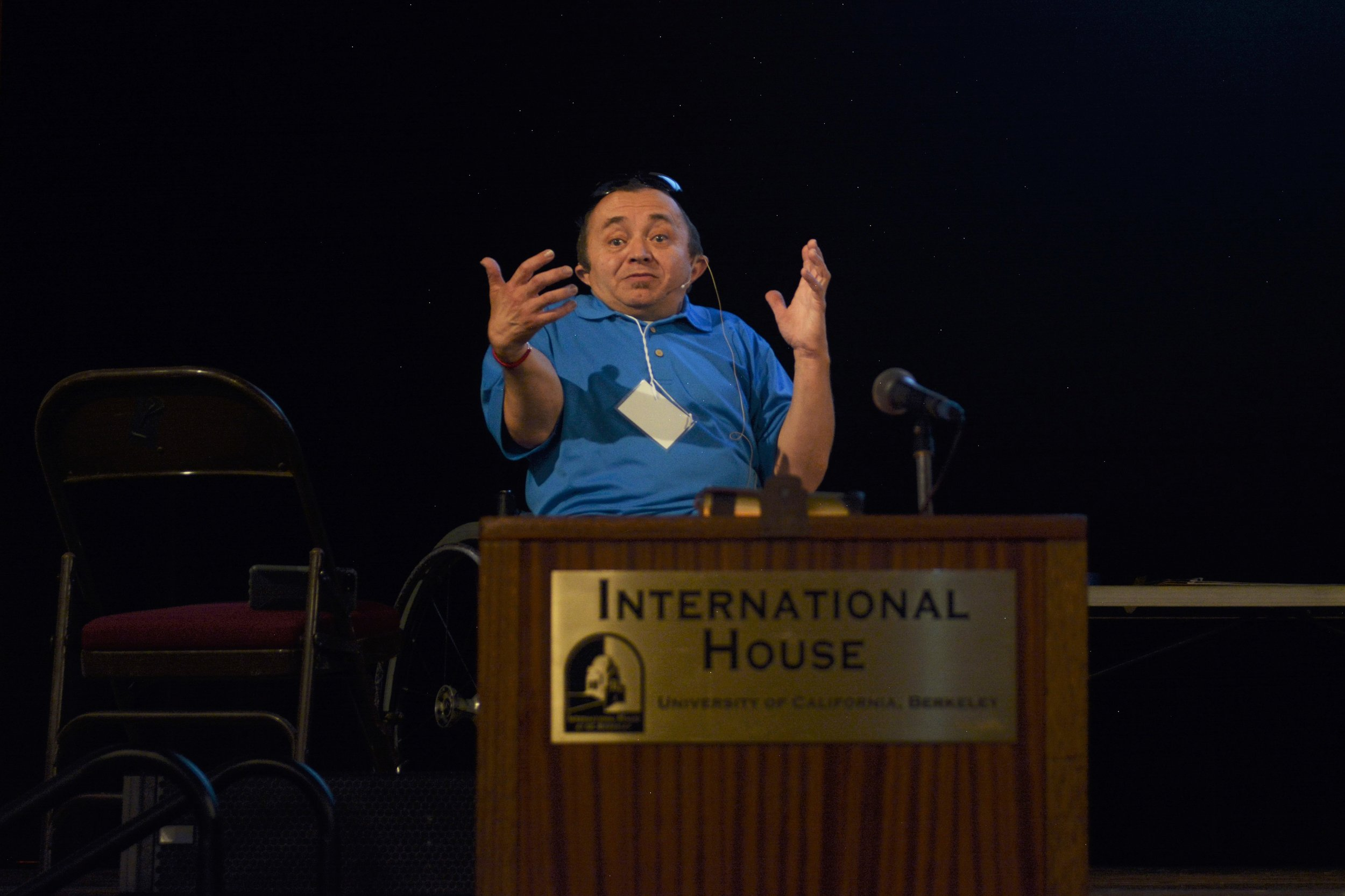Stuart James facilitating a talk on social enterprise and its value