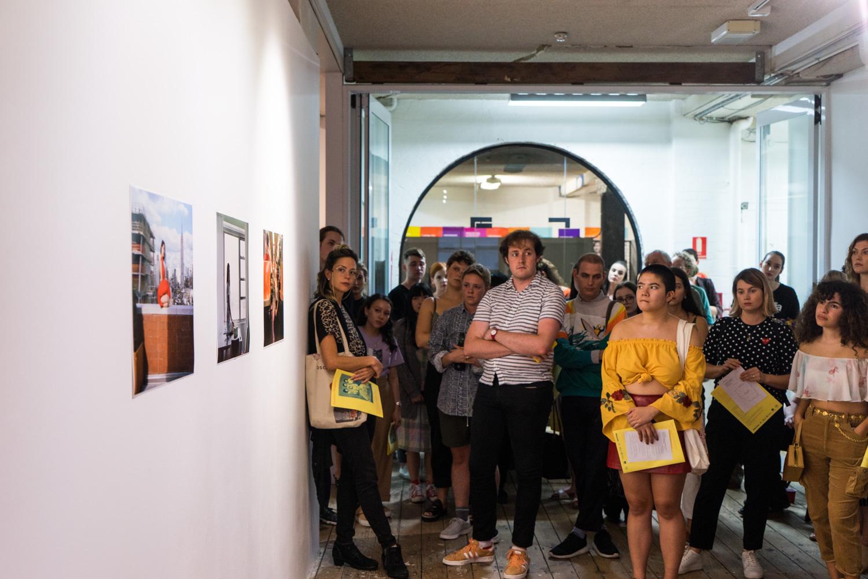 Artist talks,  Disobedient Daughters,  2018, Metro Arts, Brisbane. Photo: Louis Lim.