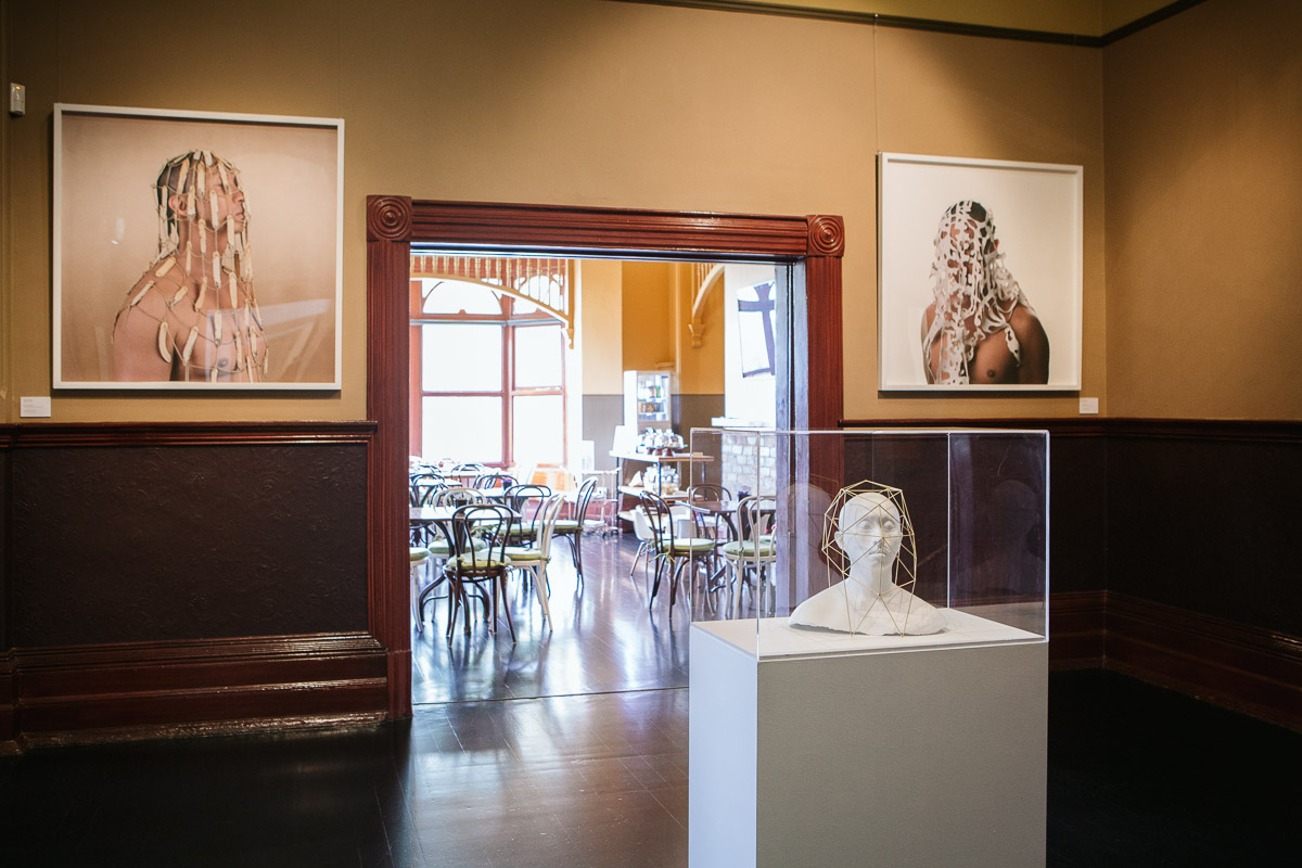 Owen Leong, installation view,  Closing the Distance,  2017, Bundoora Homestead Art Centre. Photo: Nicola Dracoulis.