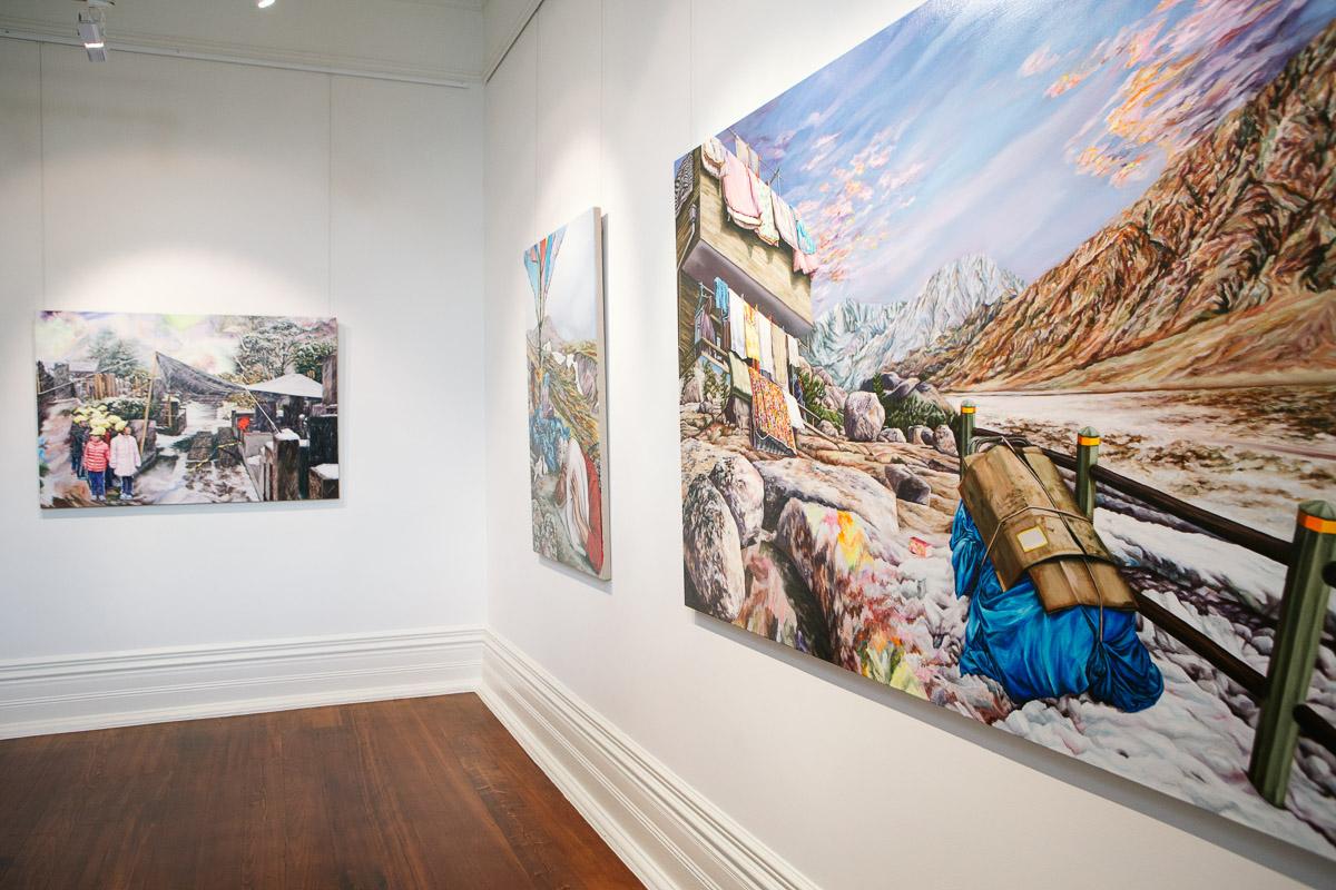 Kevin Chin, installation view,  Closing the Distance,  2017, Bundoora Homestead Art Centre. Photo: Nicola Dracoulis.