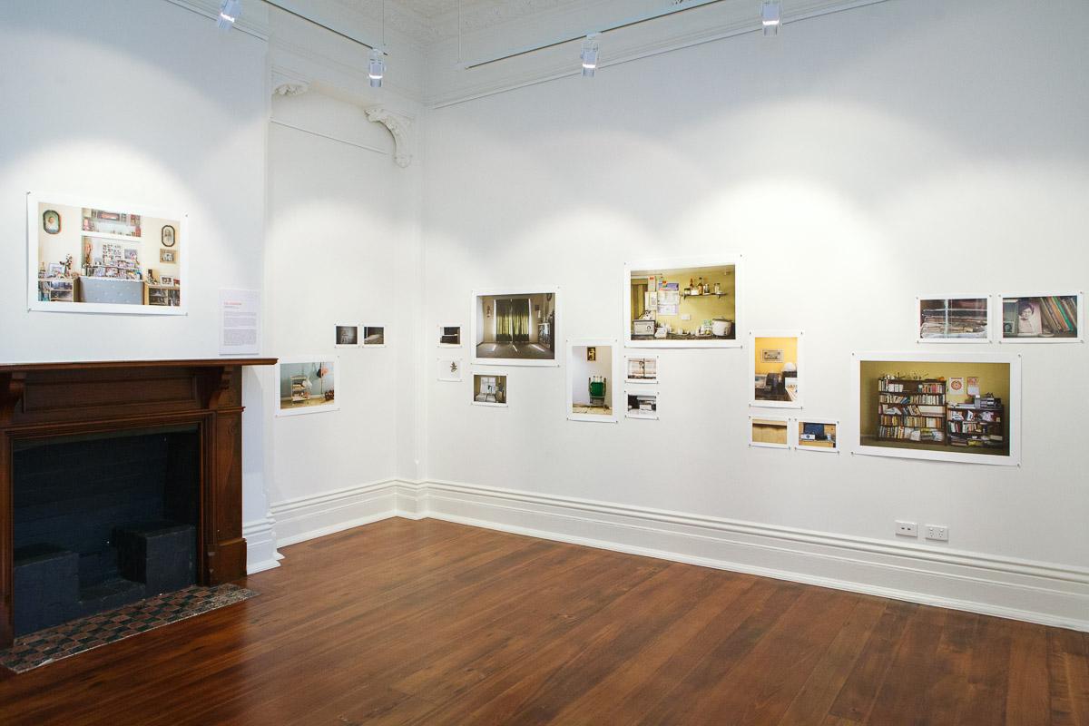 Pia Johnson, installation view,  Closing the Distance,  2017, Bundoora Homestead Art Centre. Photo: Nicola Dracoulis.
