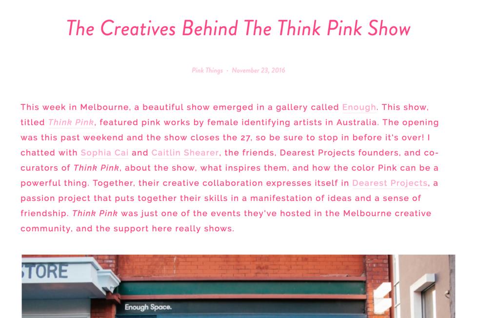 Pink Things Magazine -