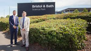 University of Bath vice-president (implementation) Prof Steve Egan,  pictured ,  right, with South Gloucestershire Council leader Toby Savage