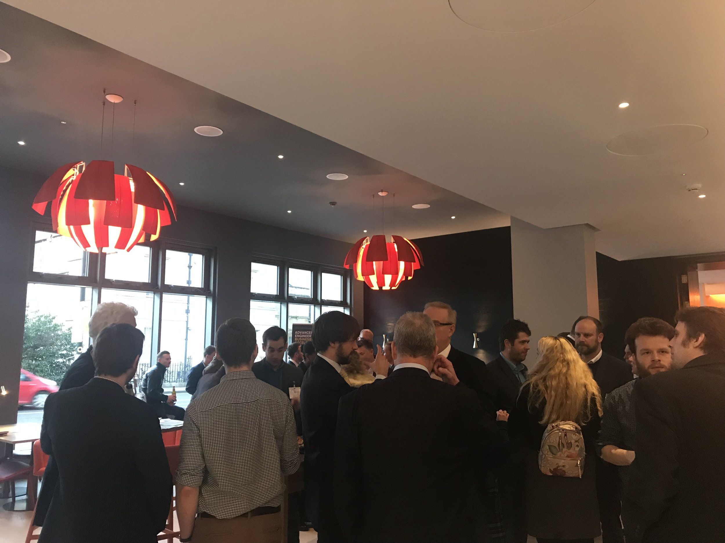 Delegates and stakeholders enjoy a drinks reception to officially launch the Advanced Engineering Business Acceleration Hub