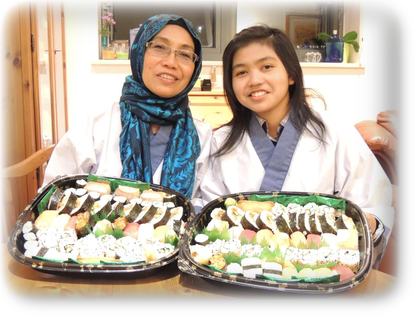 """""""Thank you so much, Nari and Yoshi! We were thrilled to learn all the  tips and tricks about sushi-making. The course was very enjoyable as the  both of you make an excellent team to guide us through every step. We  were satisfied with the experience and we highly recommend this course  to anyone who loves sushi. The sushi that we got to bring home was a lot  and we get to share them with our housemates, who all loved it."""""""