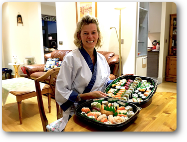 """I had such a good day yesterday learning all about sushi making, I felt  very much at home and like I was getting the very best teaching.  Watching them both work was inspiring too.  My family and friends were so impressed when I got home last night.  I would highly recommend this course to all sushi lovers"""