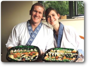 """We had a fantastic afternoon learning how to make sushi with Nari and  Yoshie. What attracted me to their course was the fact that it was a  private lesson with real one on one teaching. It was very personal, and  they really welcomed us into their home. They were very knowledgable and  were very good teachers. We learnt how to make a large variety of  sushi, had lots to take home with us, and it was absolutely delicious!  We even got given a starter pack so we could make it ourselves at home.  We can't wait to try our hand at making some sushi by ourselves. Thank  you very much Nari and Yoshie!"""