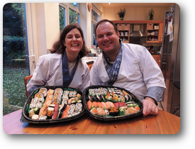 """Thank you for running such a fun and educational course! We went from  keen sushi consumers to confident beginner sushi chefs in an afternoon.  The course was well-paced and the instruction was very clear with a  well-balanced mixture of demonstrations followed by practical exercises.  We'll definitely be recommending the course to our friends and family."""