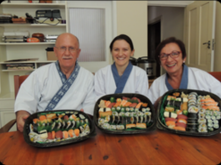"""Nari and Yoshie made dad's birthday celebrations really special and fun. Their patience and expert guidance helped us achieve the impossible: an absolutely delicious dinner to which everyone equally contributed. We would recommend this to everyone looking for an original and heart warming experience! """