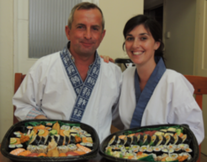 """""""I've attempted to make my own sushi at home for a few years so this was  an amazing opportunity for me to learn from a pair of professionals.  Nari and Yoshie were very charming and welcoming. The lessons flowed so  well, starting off with rice preparation, making tamago, slicing fish  and vegetables, putting it all together in various forms, not to mention  plenty of yummy sampling along the way. I learnt loads and it was good  fun to boot! We took our sushi home with us and had a sushi party with  some friends - none of which had tried it before. Needless to say they  were converts by the end of the night. Fab experience :-)"""""""