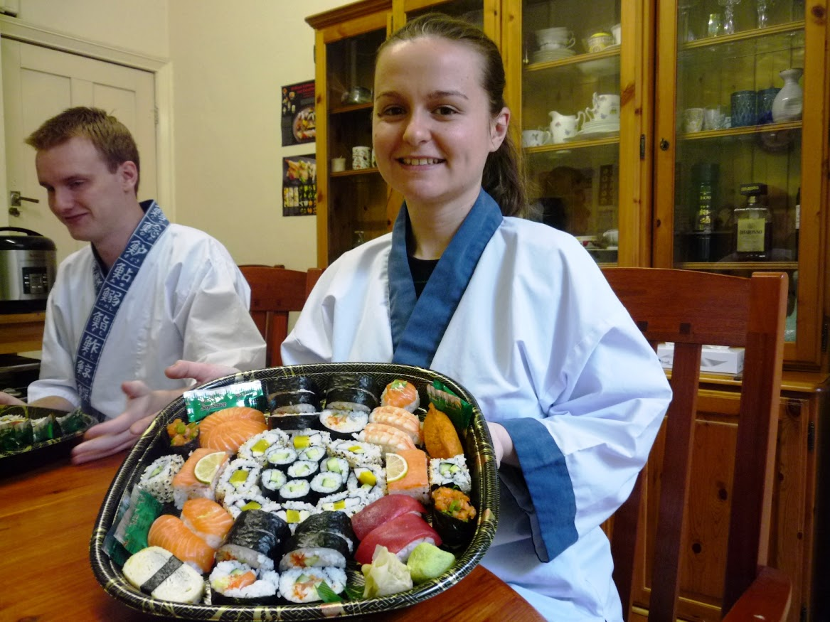 """I had a great time at Nari's and Yoshie's house learning how to make  sushis. They were extremely welcoming and very attentive to us.  Everything was perfect from the japanese aprons to the goodie bags given  at the end of the course but the best was the huge plate of sushis we  went home with!! Thanks for the experience Nari and Yoshie I will  recommend you to anyone interested in making sushi !!"""