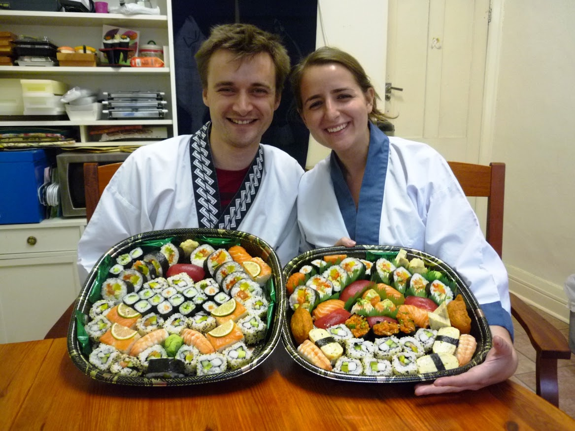 """Amazing teachers, amazing course and amazingly yummy sushi! My boyfriend John bought the course for my birthday and we both took part. Nari and Yoshie made us feel very welcome in their home and took us through a very well thought out course from the start to the finish of sushi making. This involved rice cooking and preparation, preparation of vegetables and fresh fish, traditional Japanese omelette cooking, sushi rolling and much more. We learnt loads and were very happy to take home 2 giant trays of delicious, fresh and home made sushi – not forgetting our very own sushi kit – thank you Nari and Yoshie! A must try course and great birthday present - I'm bringing my family next time..."""