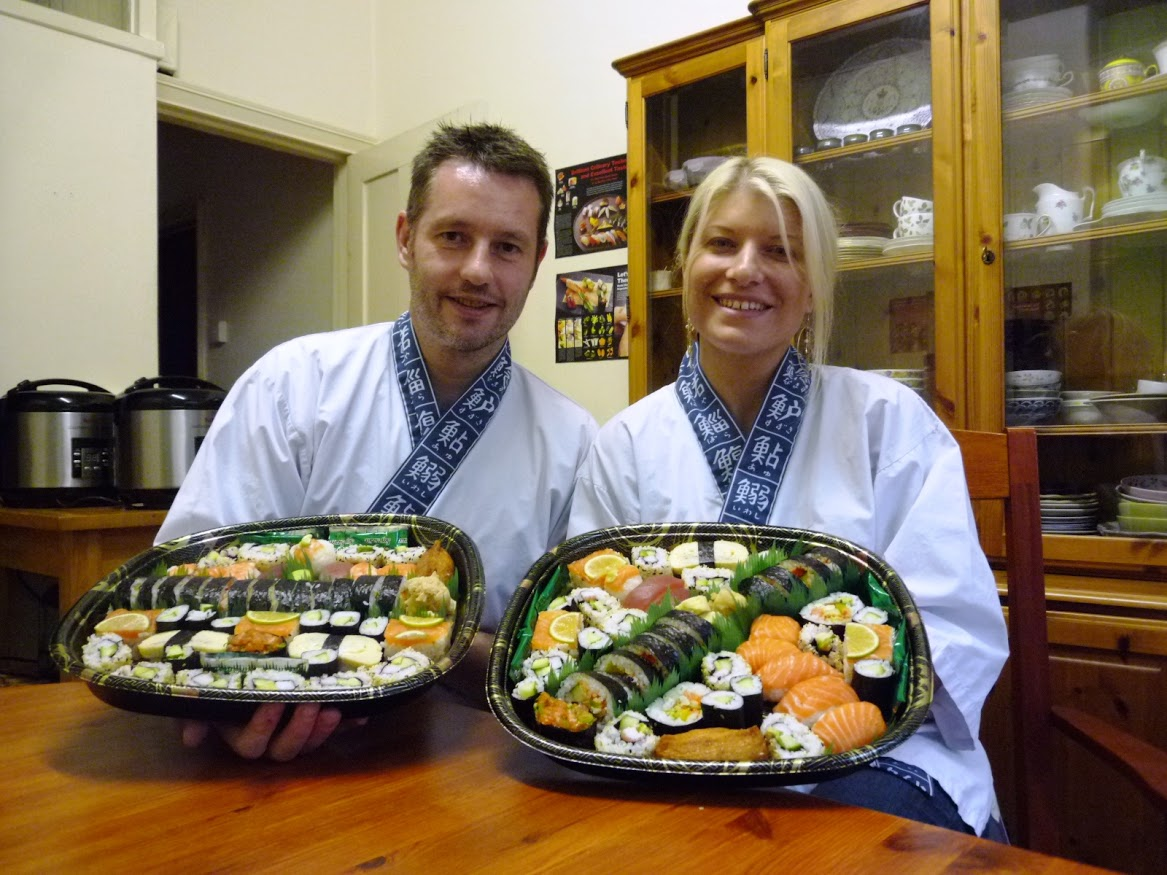 """Thank you both for welcoming us into your home and teaching us how to  make sushi. We had great fun on the course and it was a fantastic way to  spend a Saturday afternoon. We would have no hesitation whatsoever in  recommending your course to anyone."""