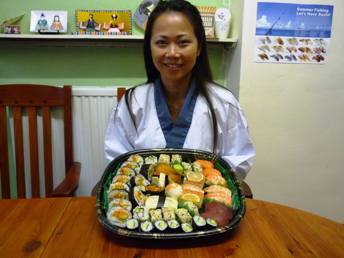 """I wanted to learn about the techniques of sushi making. This class had  given me the good opportunity to learn about the correct techniques to  make perfect rolls (!). Both Nari & Yoshi welcomed questions and I  am impressed with their passion and knowledge about this popular menu! I  shared my sushi rolls from the class with my friends and they were all  very impressed! Thanks Nari & Yoshi!"""