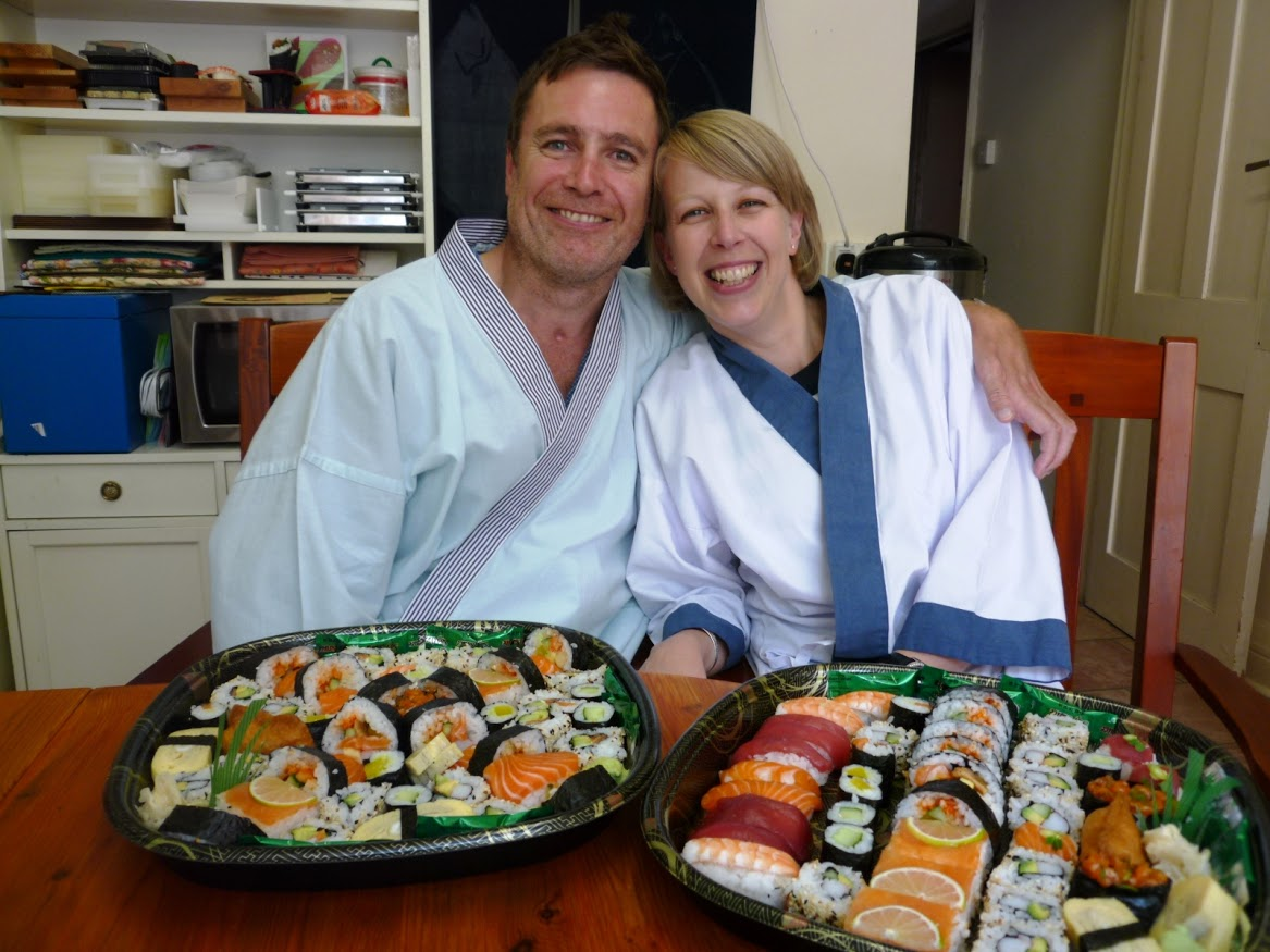 """This course was a surprise birthday present and it turned out to be one  of the best ever! Narihito and Yoshie were extremely welcoming and  friendly when we arrived and they continued to put us at ease throughout  the afternoon. The course was delivered very professionally with lots  of hands on involvement (we made our own Sushi!), with Narihito and  Yoshie guiding us with their expertise and encouragement. We really  enjoyed learning about the history and theory of Sushi production as we  were making our own. That evening we enjoyed the plentiful fruits of our  labour with a glass of wine and friends; delicious! We look forward to  using the starter kit to make our own Sushi very soon."""