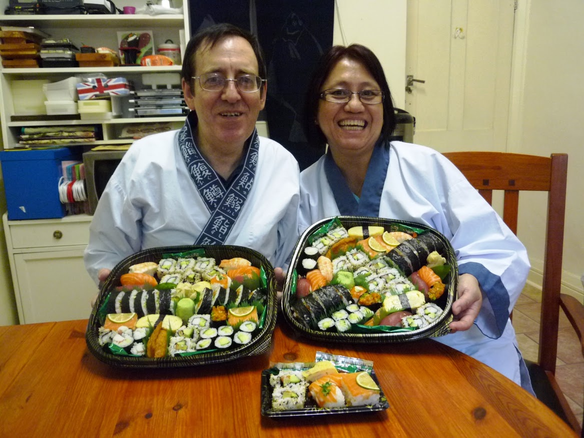 """We had a good time learning how to make sushi. Nari & Yoshie are  good teachers with a friendly and understanding approach. The course was  very well-organised and we felt relaxed and they made learning an  enjoyable process.This was an excellent birthday present from my wife.  We continued celebrating at home where we enjoyed the sushi with a  bottle of Sake.We feel that we have enough confidence to make sushi at  home and hope to do this soon."""