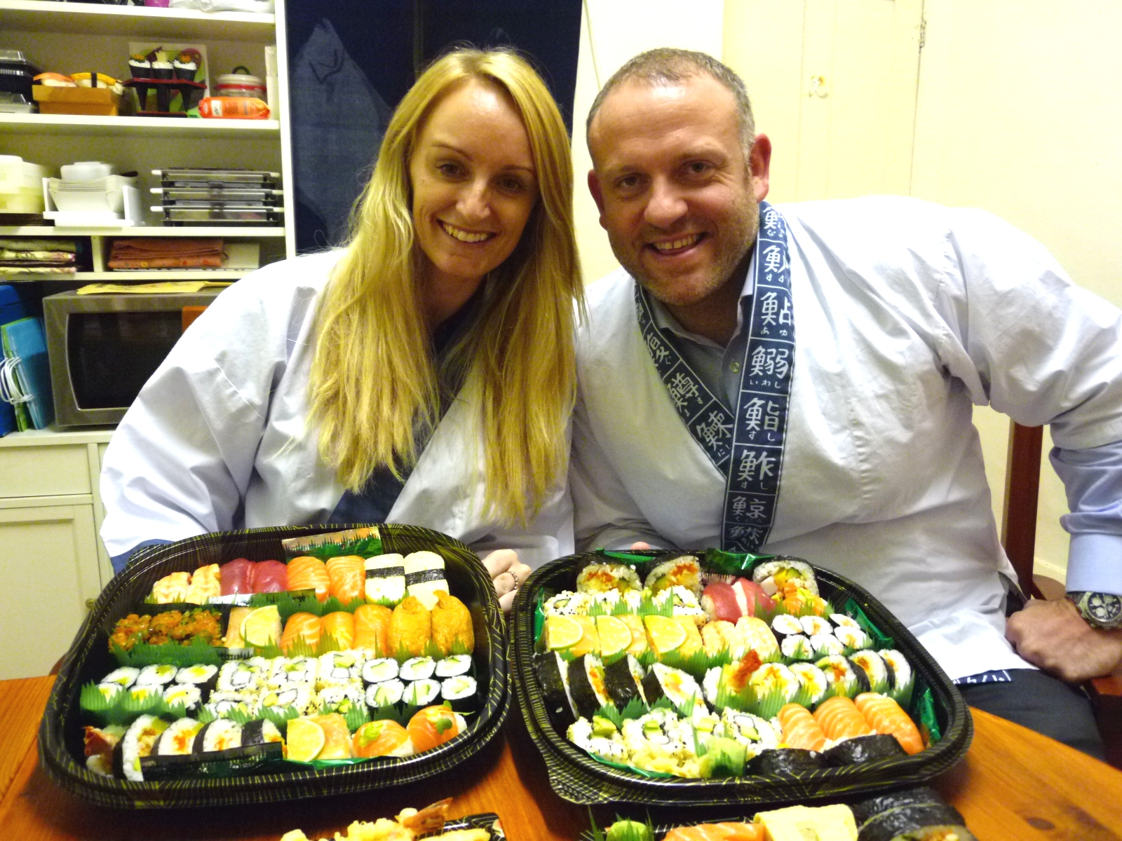 """Nari & Yoshi were fabulous hosts for this wonderful Sushi course!  We had great support, training and most importantly - patience  throughout the evening. The course was very well paced and allowed us  sufficient time to learn each part whilst enabling us to cover several  aspects of Sushi making! We were very impressed with the amount of  detailed information, practical examples and of course the take home  gift set to get us started at home. I would absolutely recommend this  course! Thank-you Nari & Yoshi for a fabulous evening!"""
